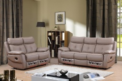 leather sofa set with rock chair